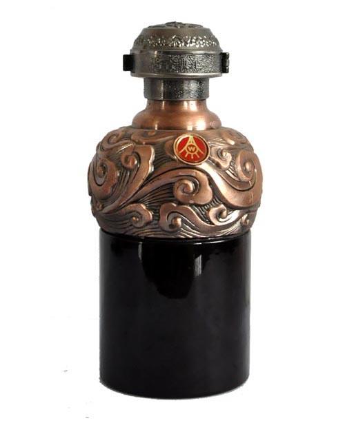 喷釉烤花定制雕花瓶