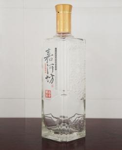 烤花精白玻璃瓶