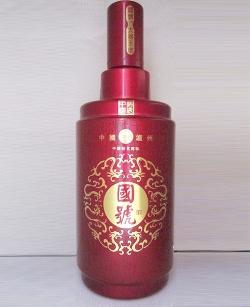 喷釉烤花仿陶酒瓶