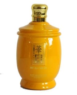 喷釉烤花瓶