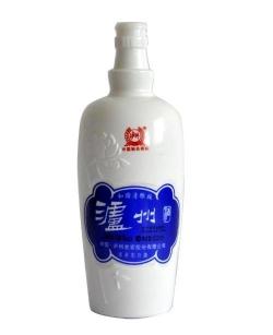 普宁仿陶酒瓶乳白烤花瓶
