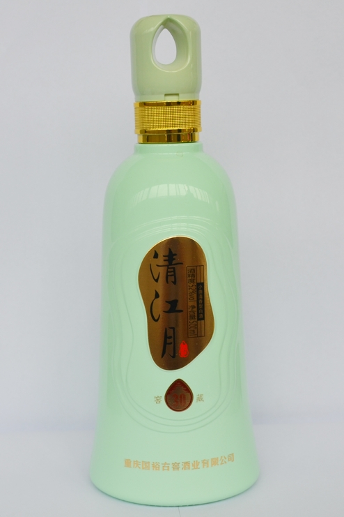 山东喷釉烤花玻璃瓶